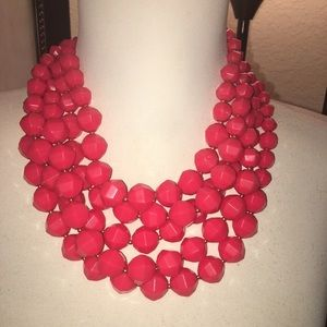 Red Kate spade statement necklace